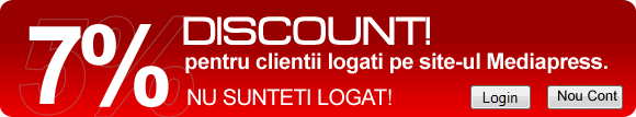 Discount pentru userii logati in conturile Media Press Publishing